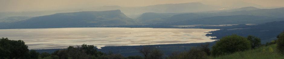 See Genezareth - Kinnerat Galiläa im Hintergrund
